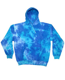 Colortone - T969R Youth Blue Mix Tie Dye Pullover Hoodie