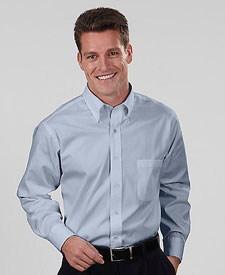 Van Heusen - V0068 Men's Long Sleeve Blended Pinpoint ...