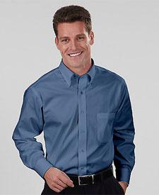 Van Heusen - V0068 Men's Long Sleeve Blended Pinpoint Oxford Shirt