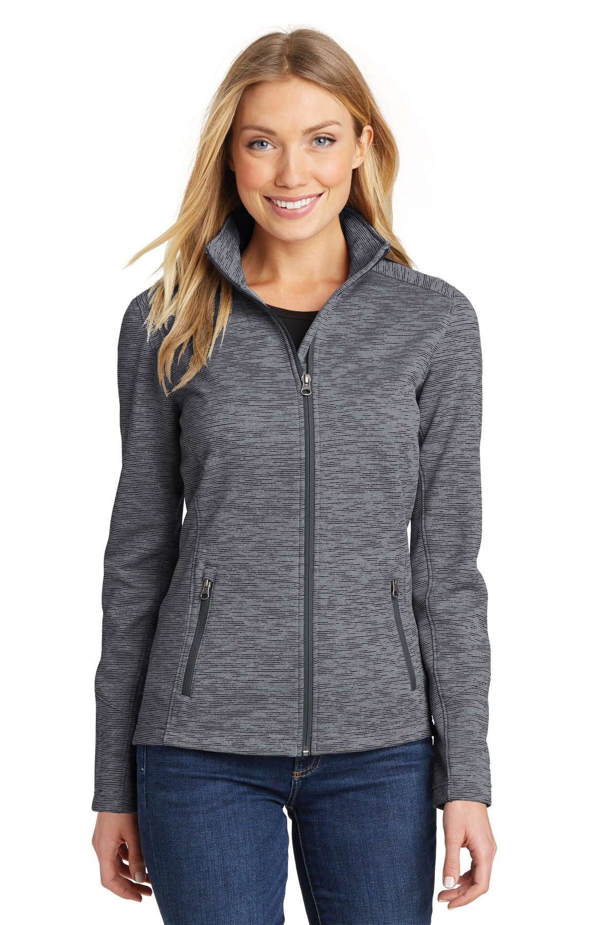 Port Authority L231 - Ladies Digi Stripe Fleece Jacket - Women's ...