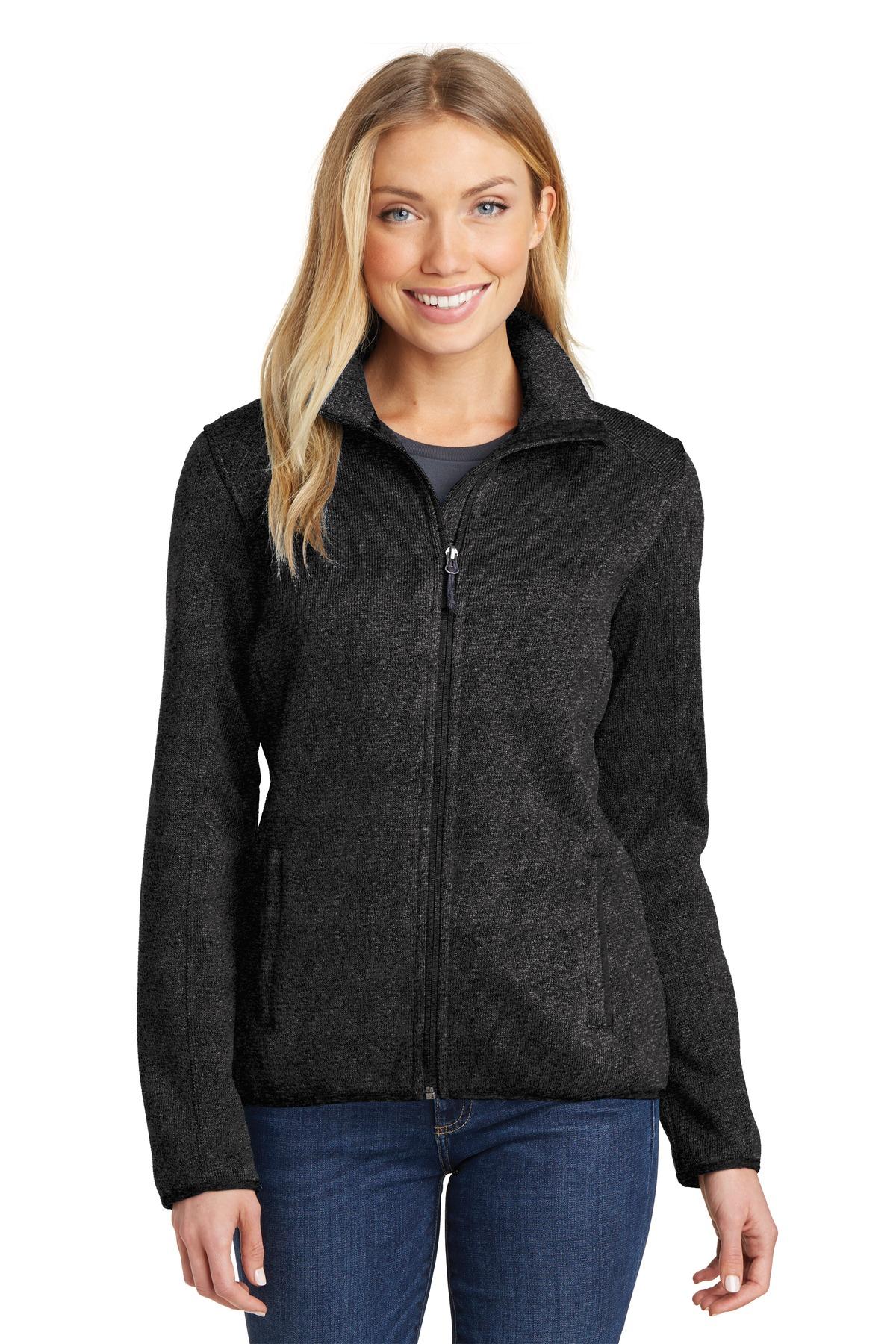 Port Authority L232 - Ladies Sweater Fleece Jacket - Outerwear