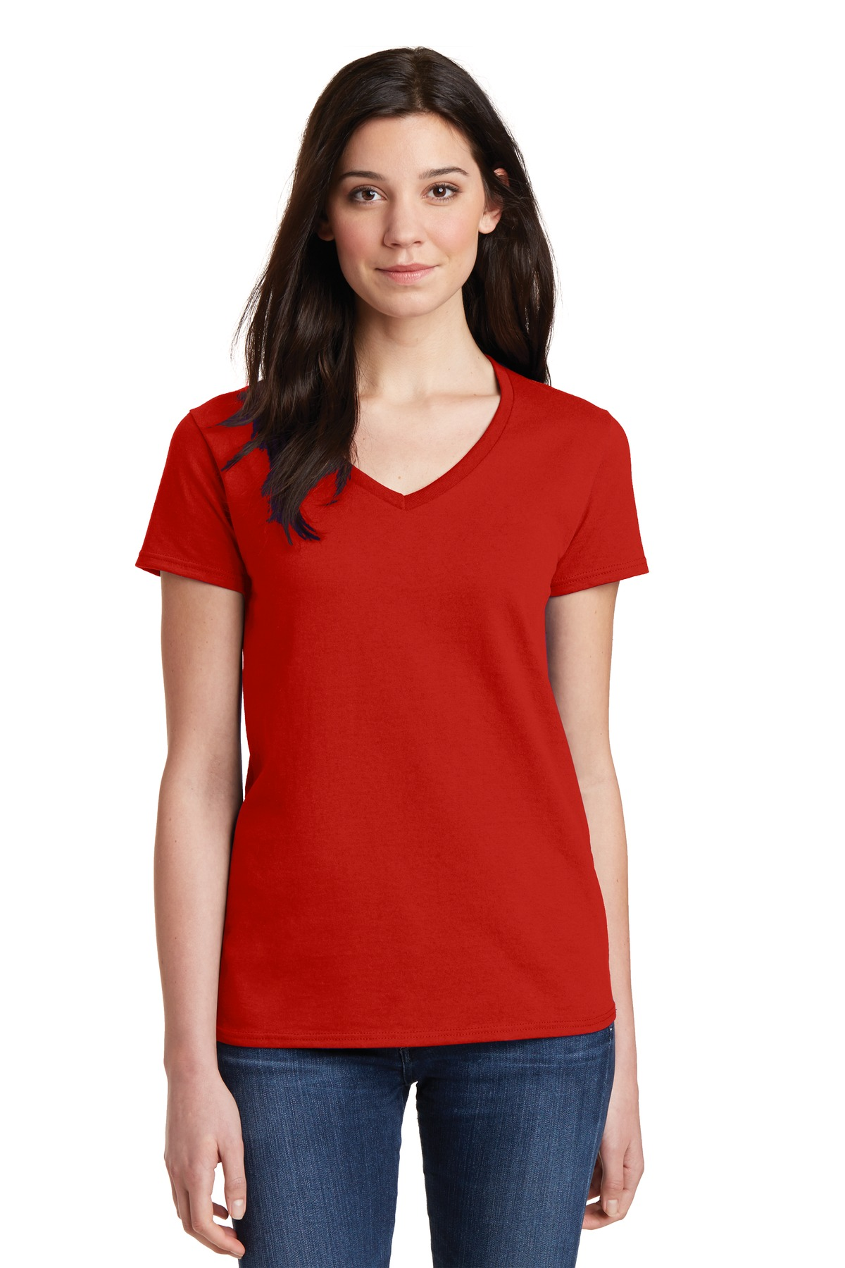 gildan 5v00l ladies heavy cotton 100 cotton v neck t