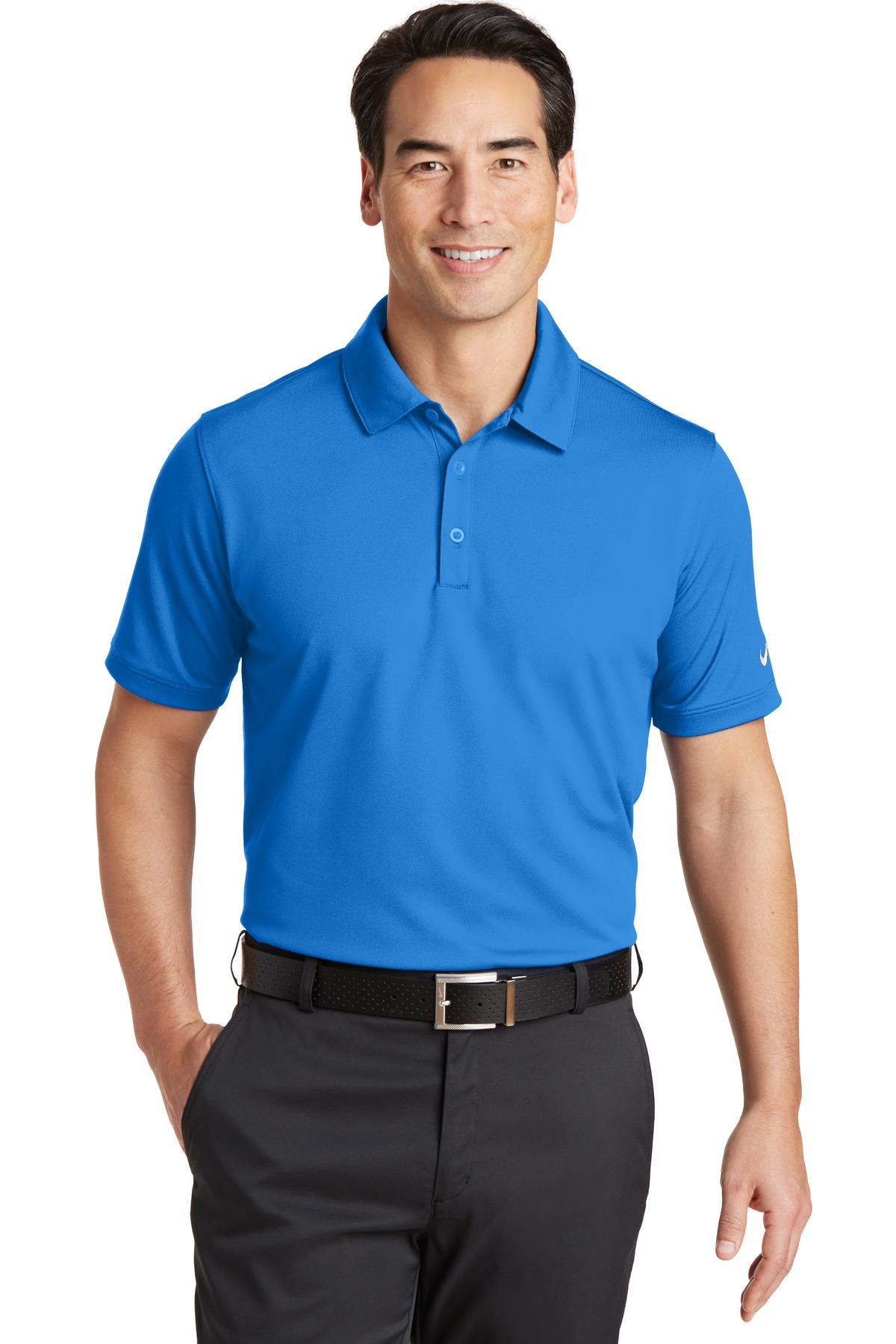 Nike Golf 746099 Dri Fit Solid Icon Pique Polo Mens T Shirts