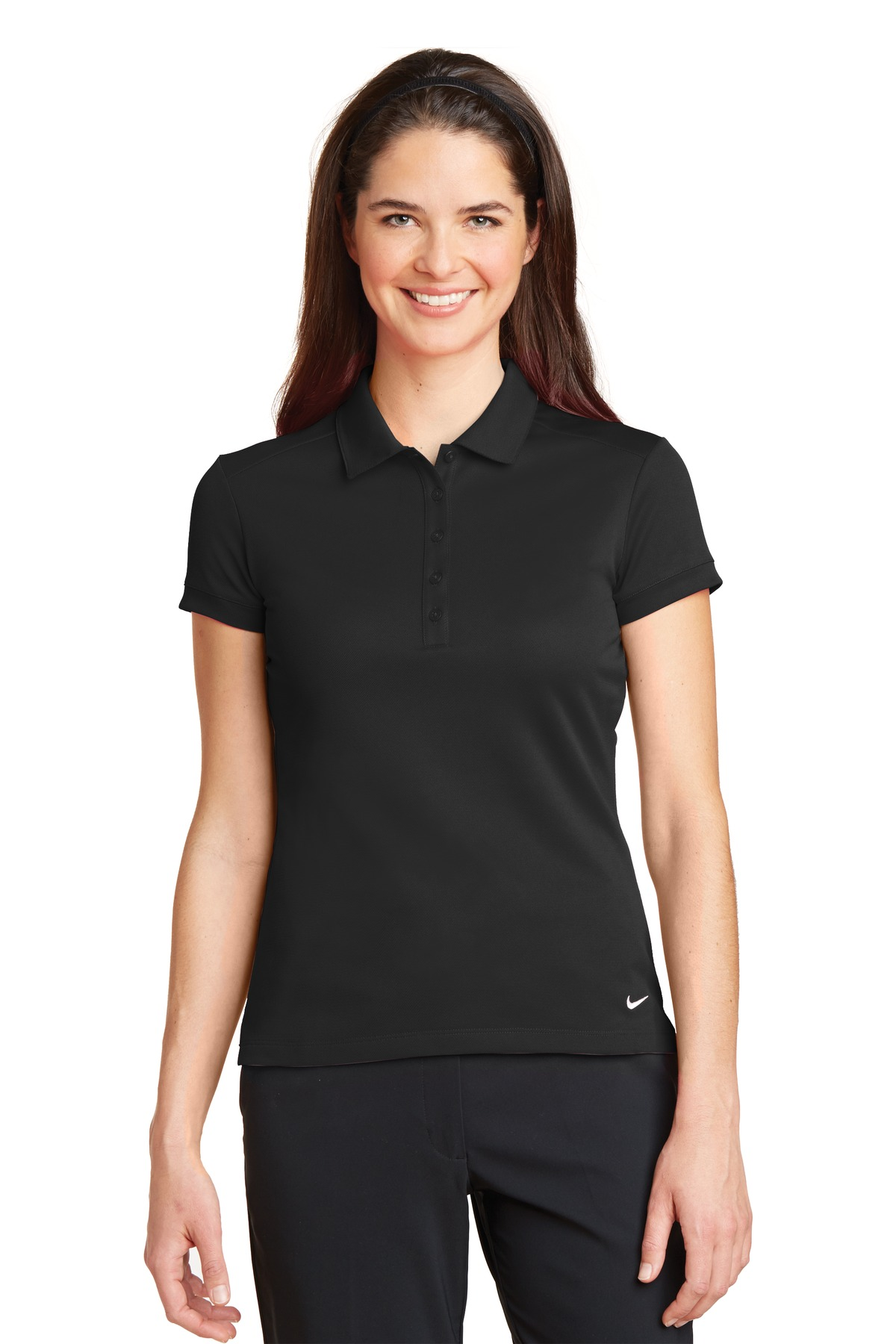 Nike Golf 746100 Ladies Dri Fit Solid Icon Pique Polo Womens T