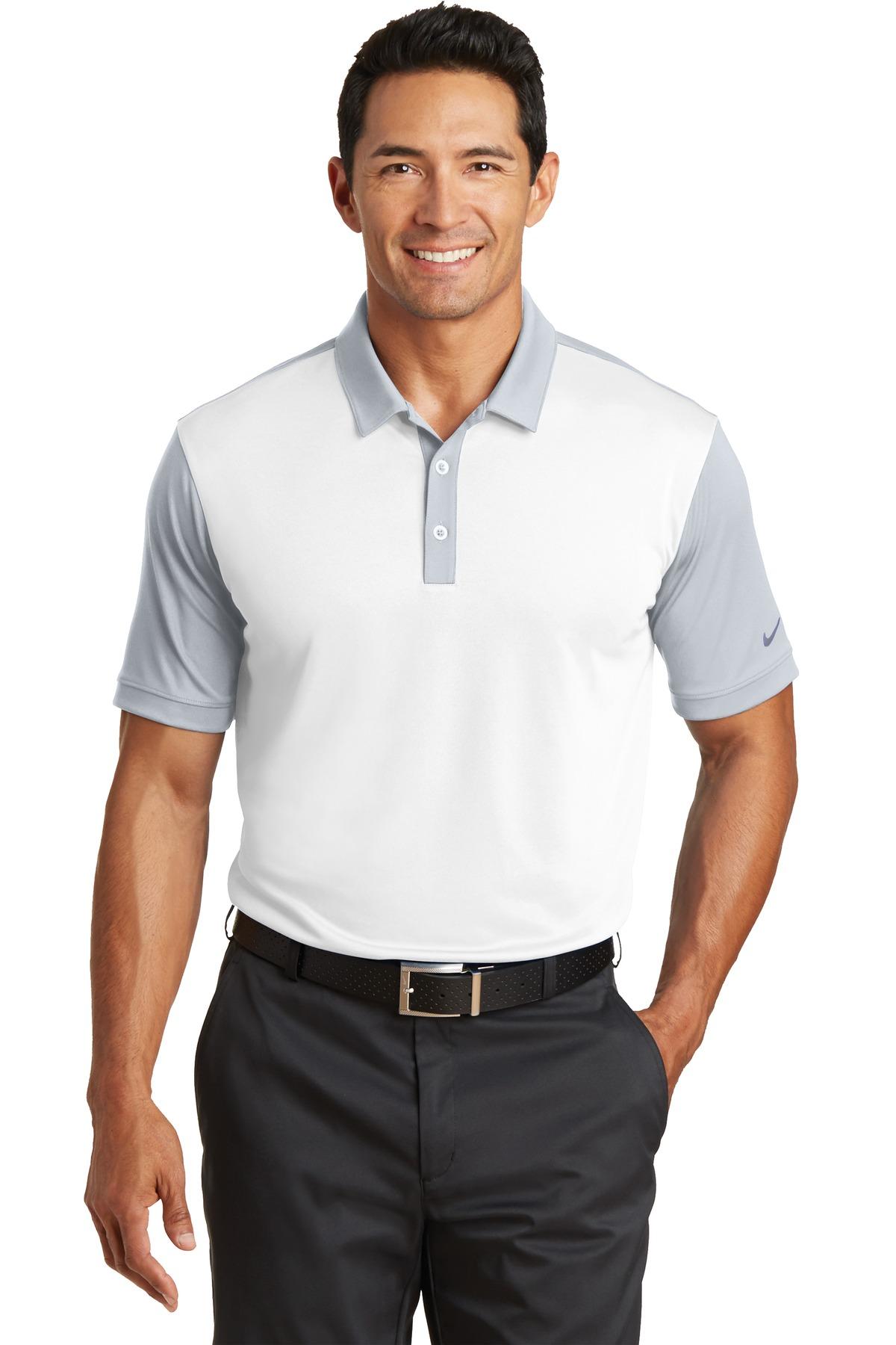 Nike Golf 746101 Dri Fit Colorblock Icon Polo Mens Sport Shirts
