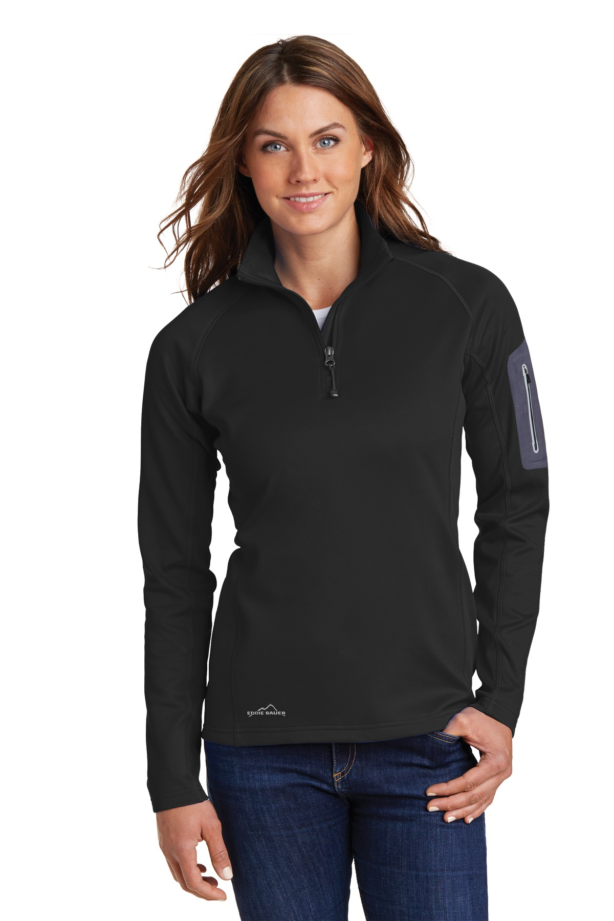 Eddie Bauer EB235 - Ladies 1/2-Zip Performance Fleece Jacket ...