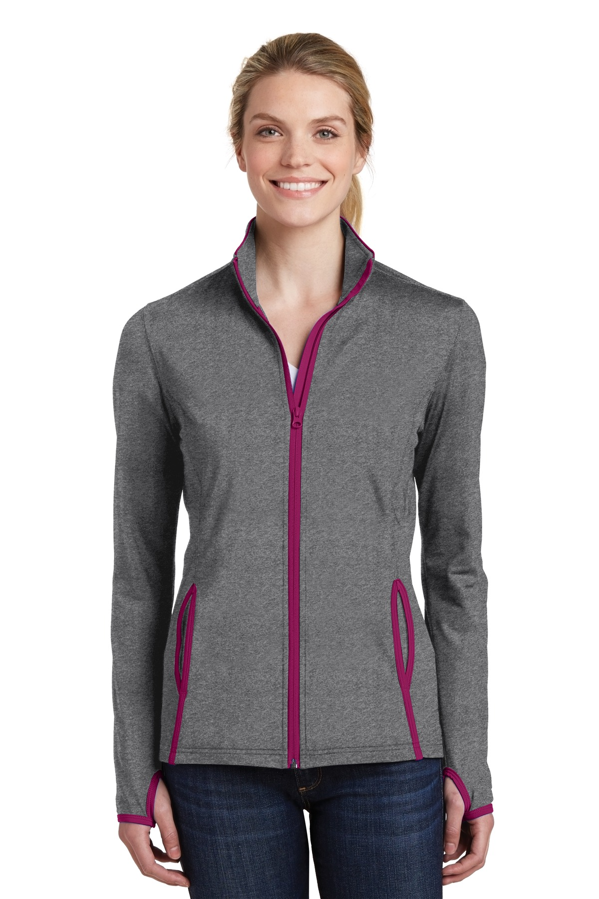 click to view Charcoal Grey Heather/ Pink Rush