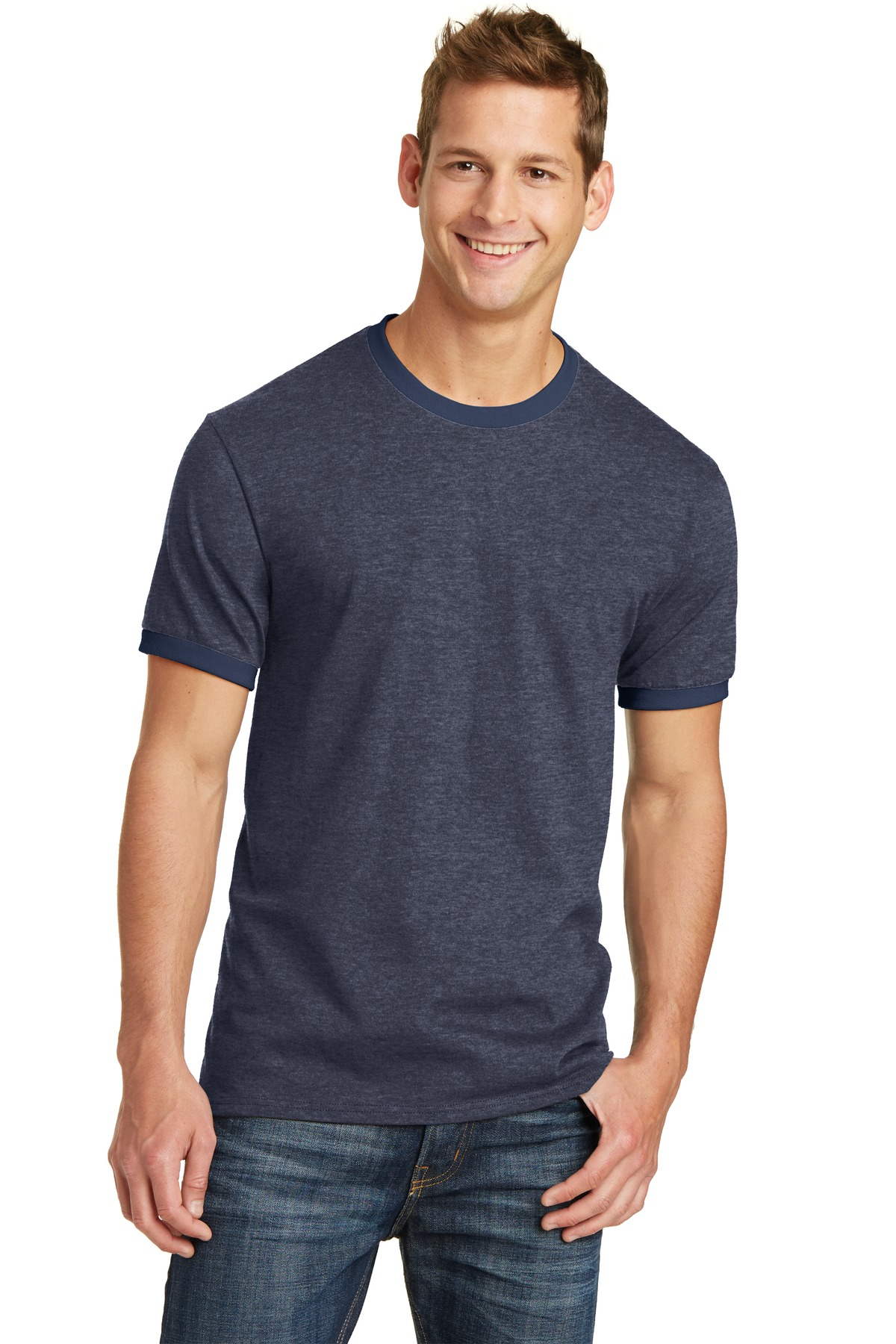 click to view Heather Navy/ Navy