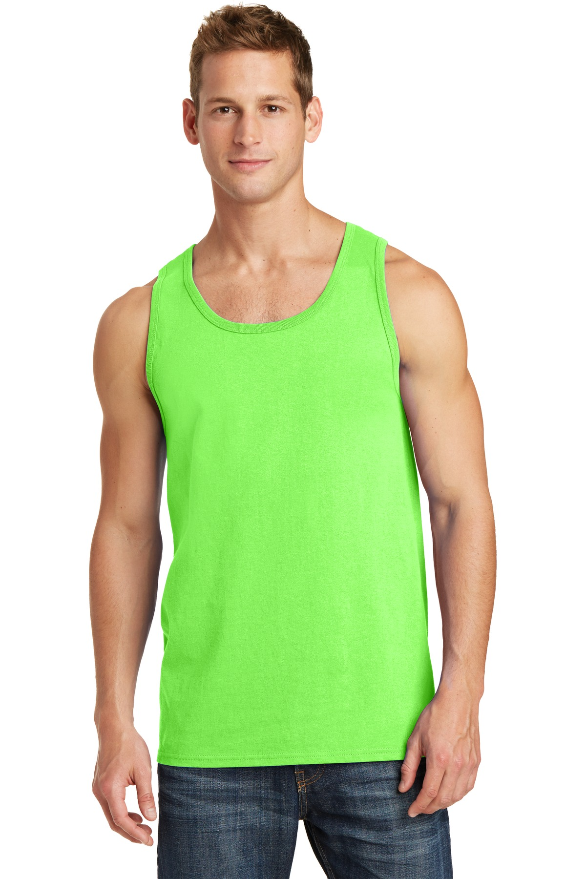 a5c0c74d058f0 Port   Company PC54TT - 5.4-Oz 100% Cotton Tank Top - Men s Tanks