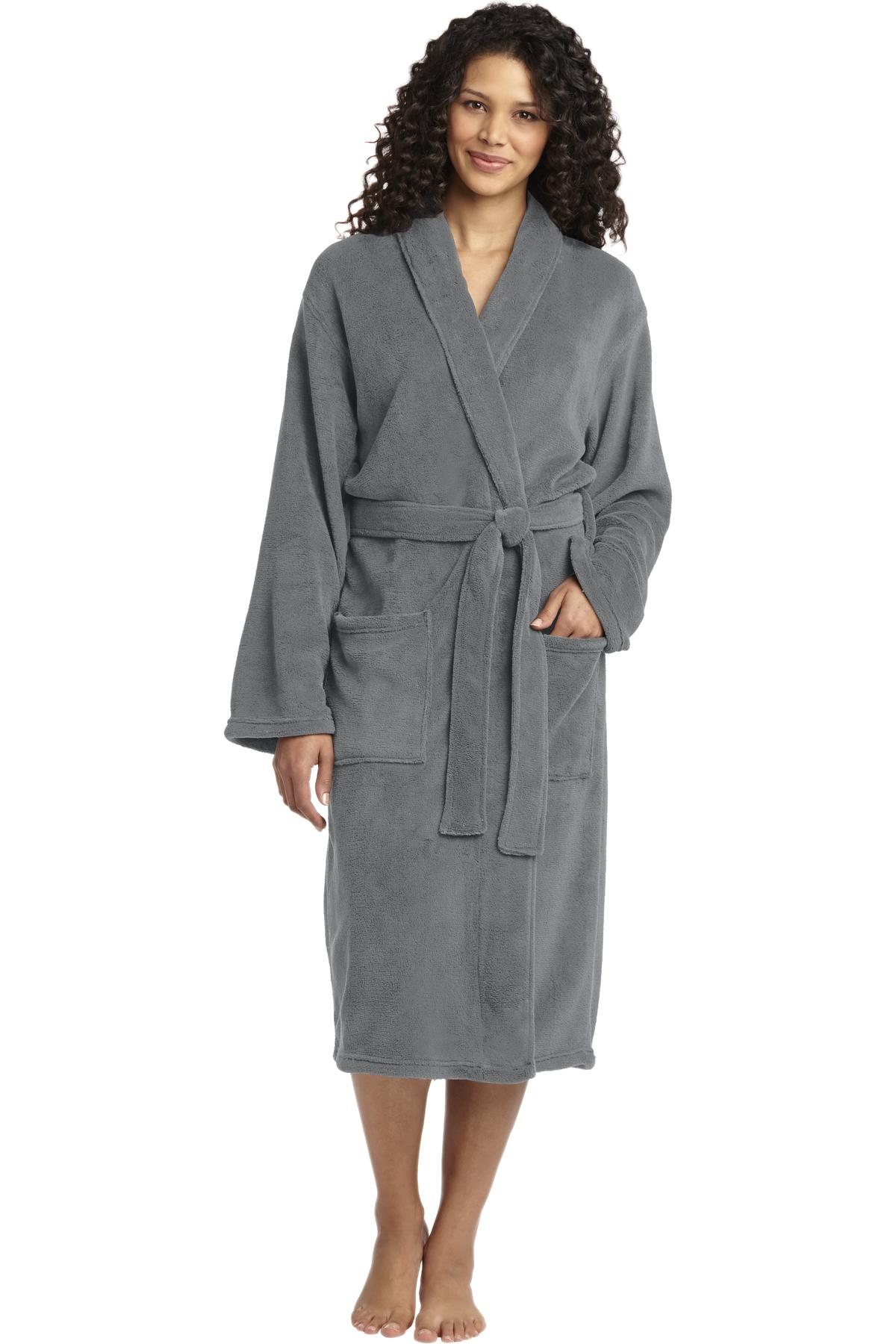 Port Authority R102 - Plush Microfleece Shawl Collar Robe - Accessories fb016f85b