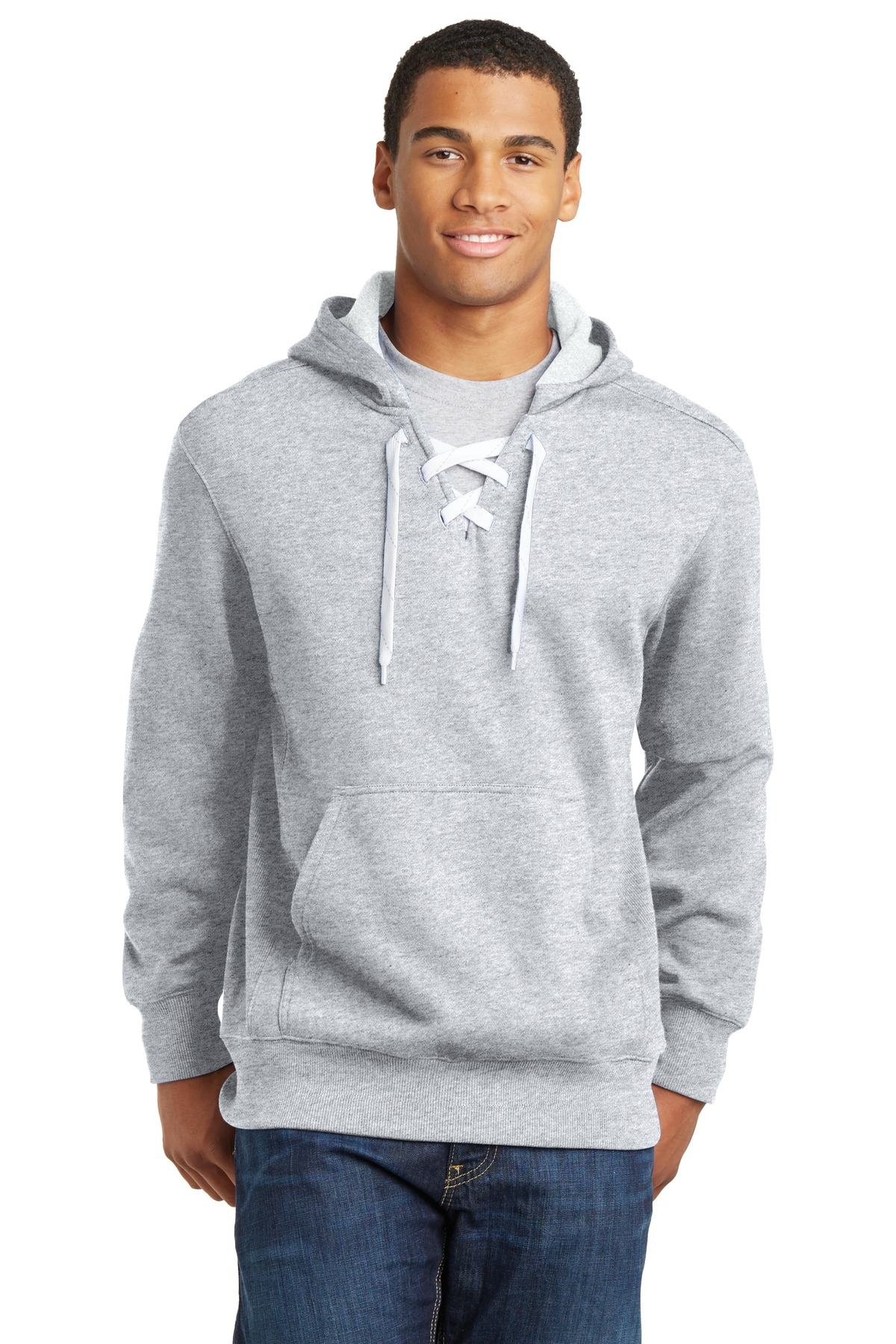 Sport-Tek® ST271 - Lace Up Pullover Hooded Sweatshirt - Men's Fleece