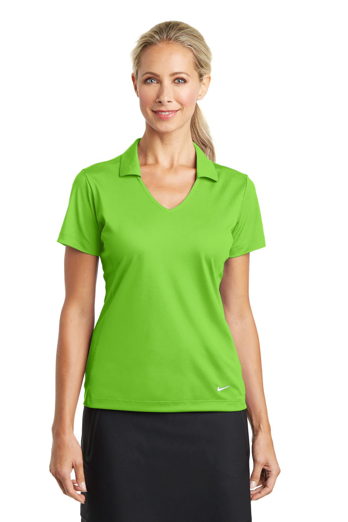 Nike Golf 637165 Ladies Dri Fit Vertical Mesh Polo Womens T Shirts