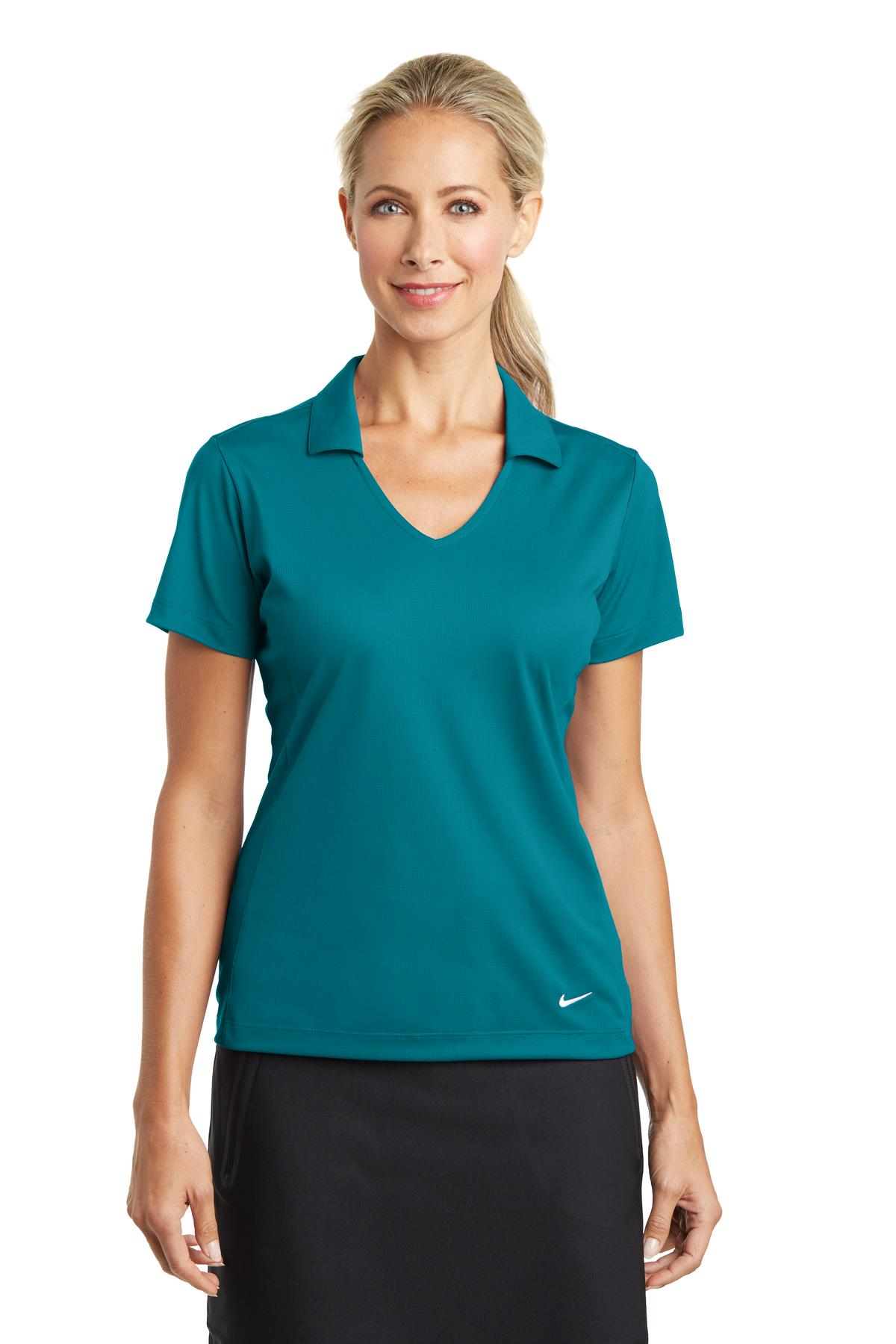 nike golf 637165  ladies drifit vertical mesh polo