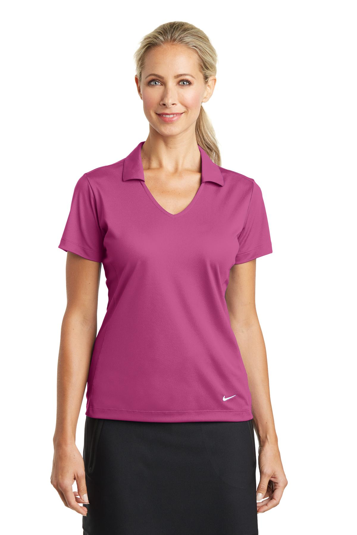 Nike golf 637165 ladies dri fit vertical mesh polo for Nike dri fit t shirt ladies