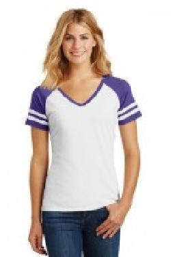 click to view White/ Heathered Purple