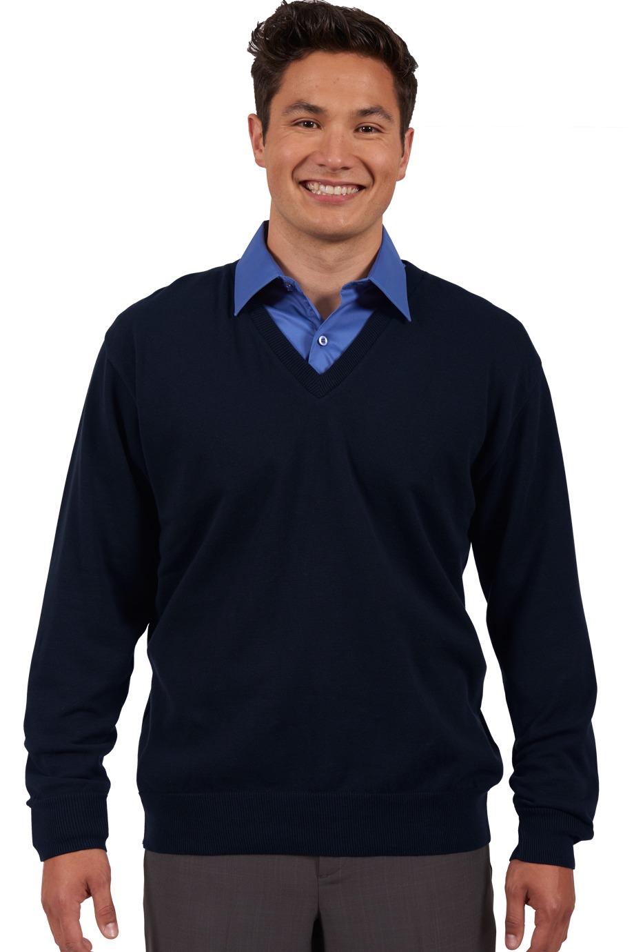 47e2abfb4a7 Edwards Garment 4090 - Fine Gauge V neck Sweater  30.32 - Sweater
