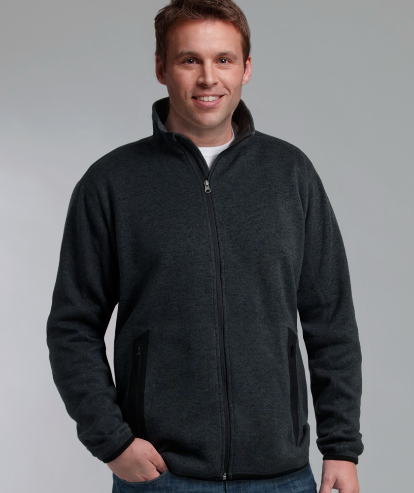 Charles River 9493 - Men's Heathered Fleece Jacket $37.80 - Men's ...