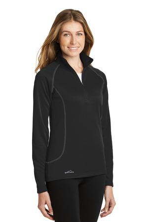 70144182dfc Eddie Bauer® EB237-Ladies Half Zip Base Layer Fleece