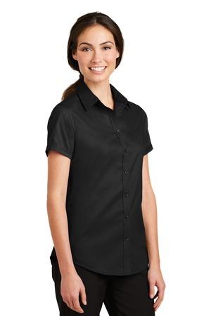 2ee4bceb7 Port Authority® L664-Ladies Short Sleeve SuperPro™ Twill Shirt ...