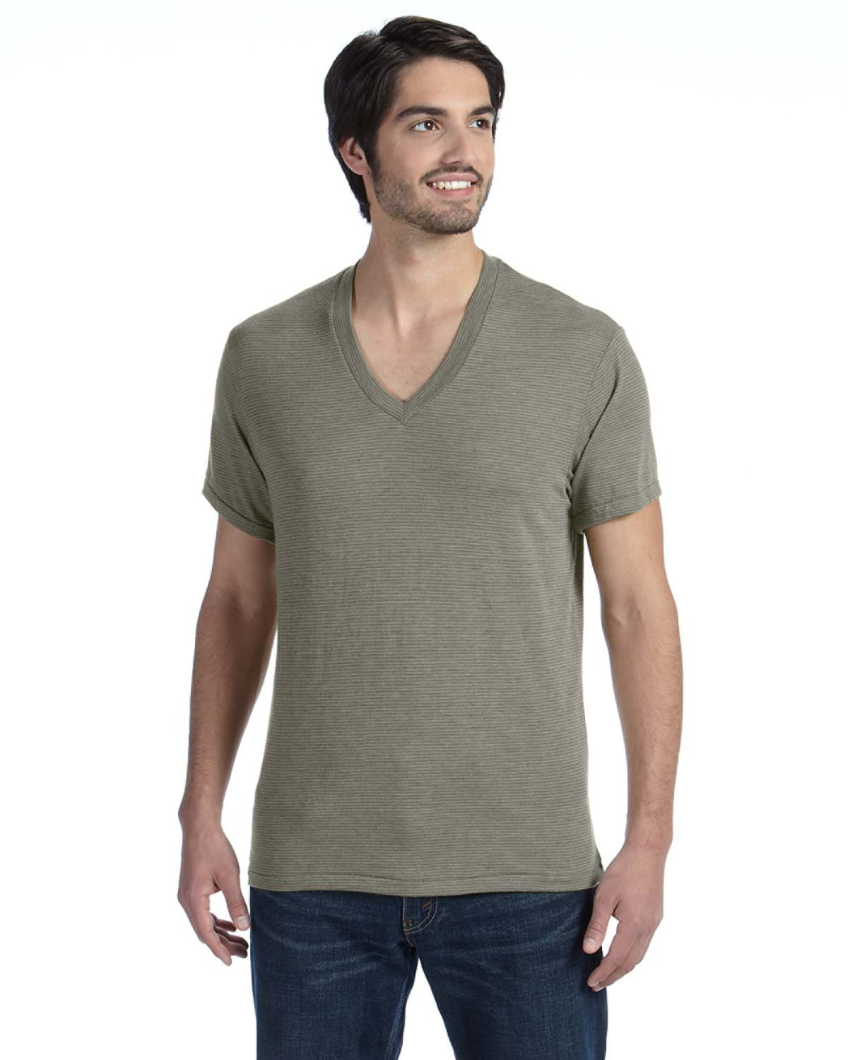 Alternative - AA1933 Men's Feeder Stripe V-Neck