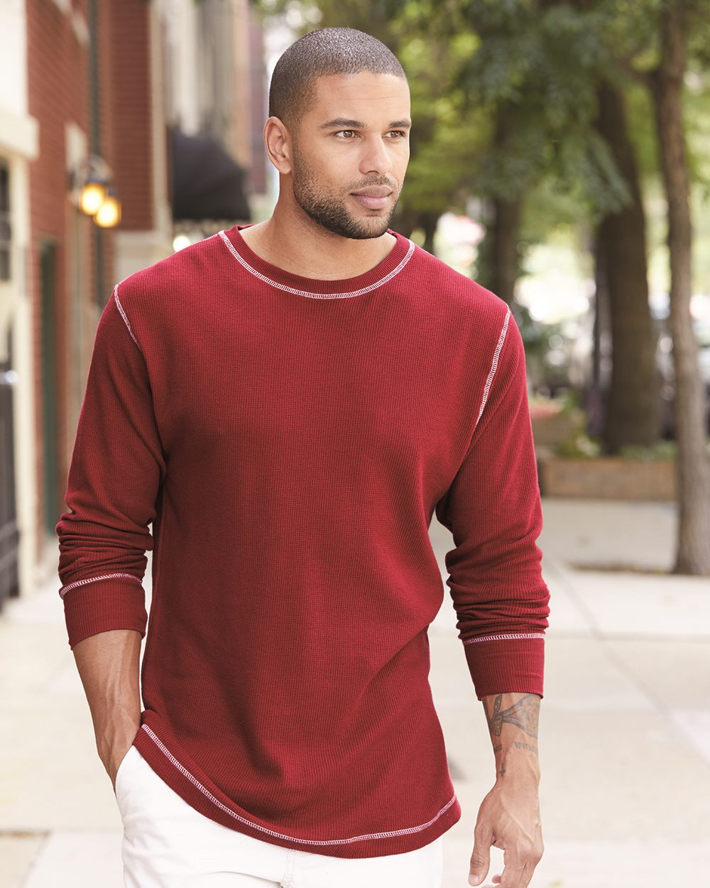 J. America 8238 Vintage Long Sleeve Thermal T-Shirt