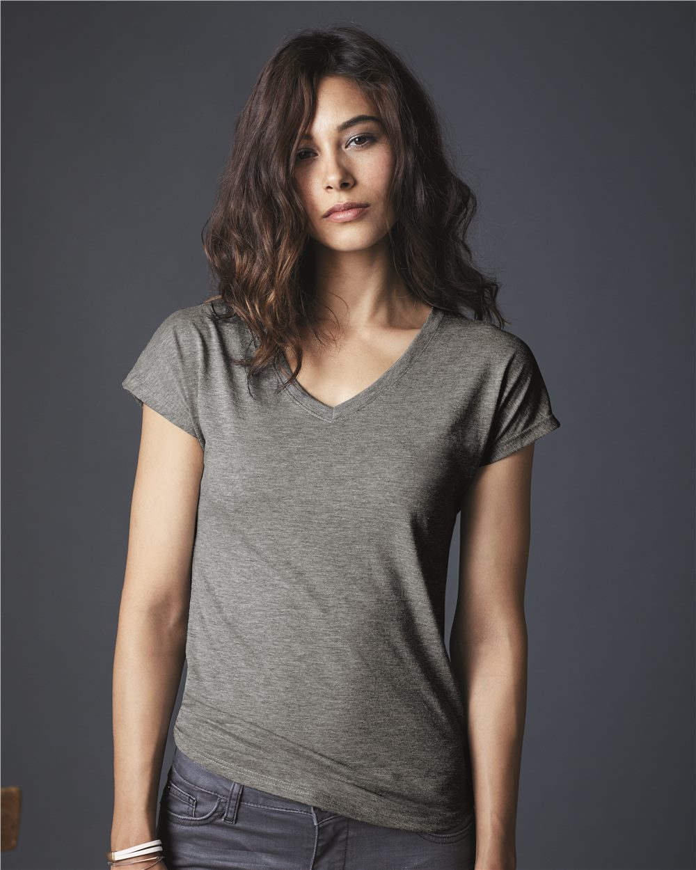 Anvil - A6750Vl Women Triblend V Neck T