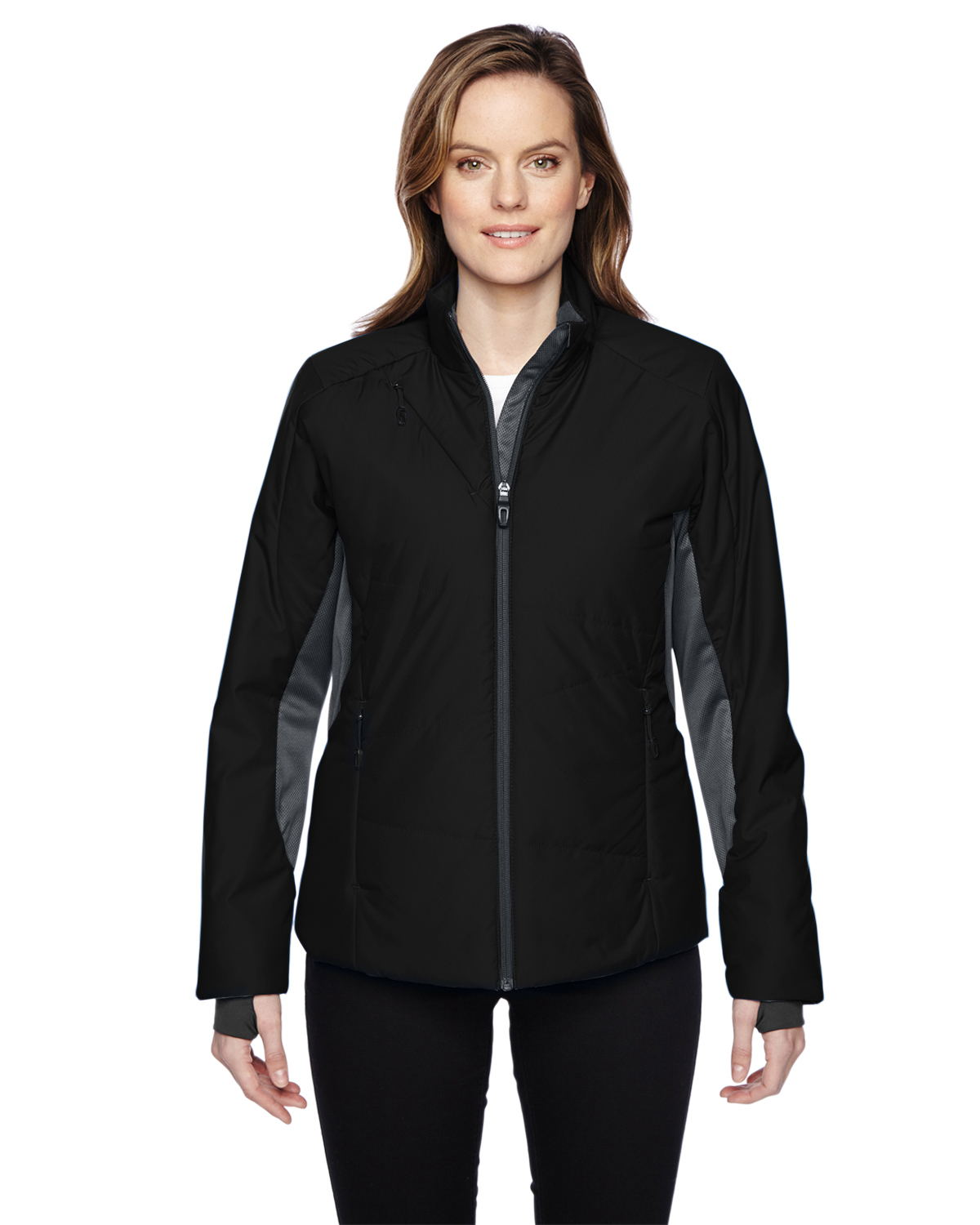 Ash City North End Sport Red 78696 - Ladies' Immerge Insulated Hybrid Jacket with Heat Reflect Technology
