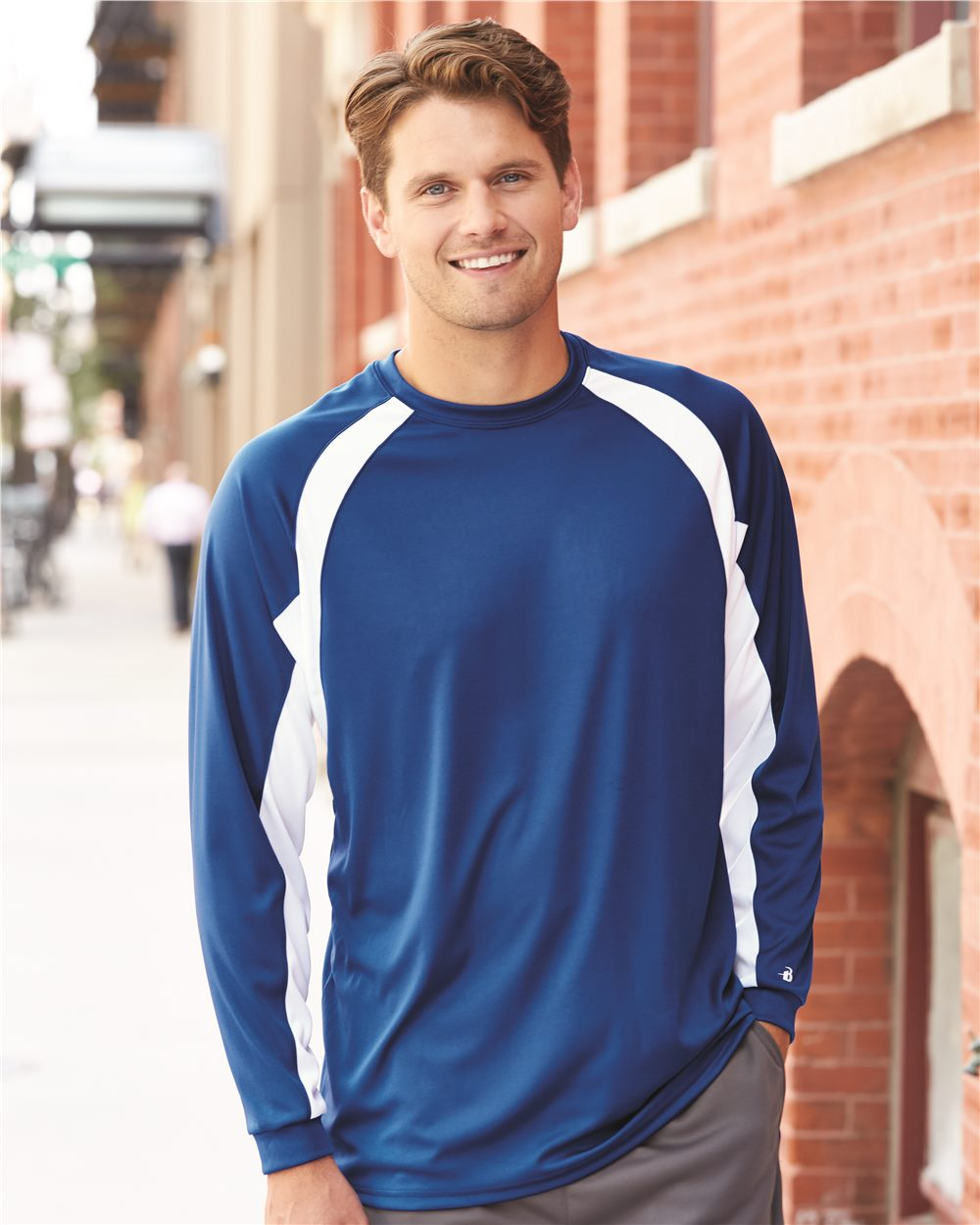 Badger 4154 - B-Dry Hook Long Sleeve T-Shirt