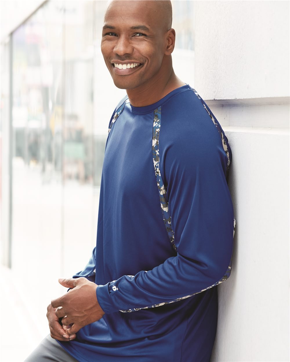 Badger 4155 - Digital Camo Hook Long Sleeve Tee Shirt