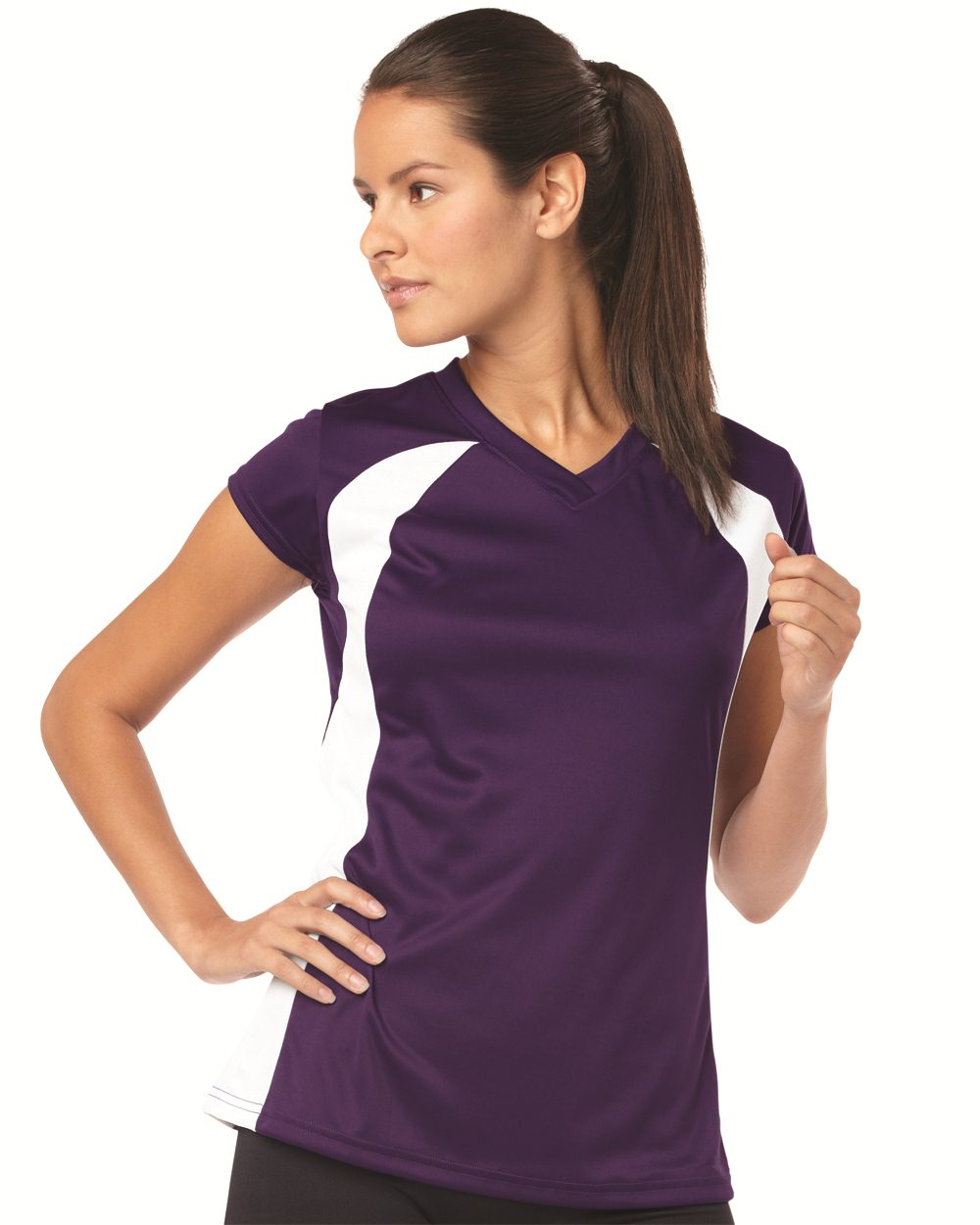 Badger 6161 - Ladies' B-Dry Colorblock T-Shirt