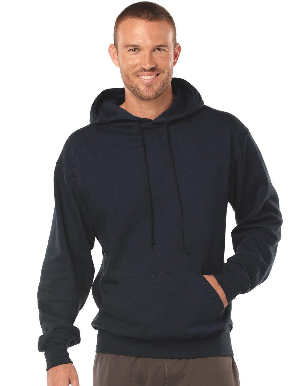 Badger Sport 1254 Hooded Sweatshirt with Sport Shoulders