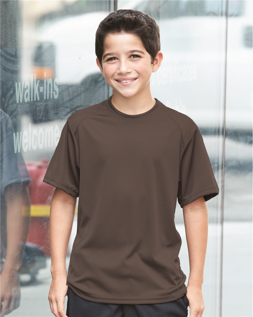 Badger Sport 2120 Youth B-Dry Core T-Shirt with Sport Shoulders