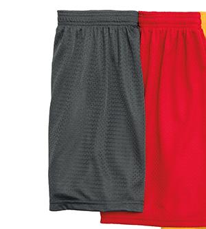Badger Sport 7216 女士5 裤腿内缝运动网眼短裤