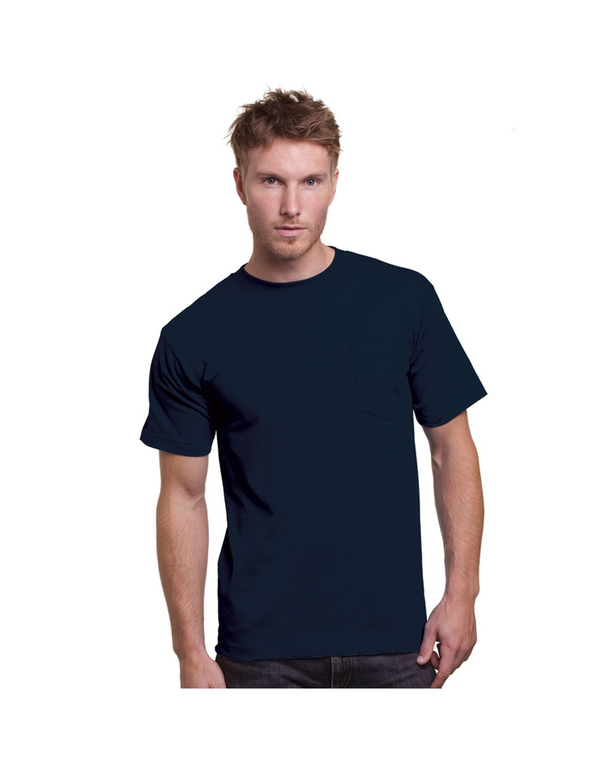 Bayside 3015 Union Made Short Sleeve T-Shirt with a Pocket