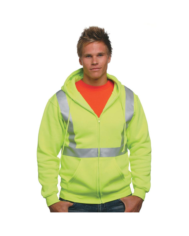 Bayside - BA3790  Hi-Visibility Full Zip Hooded Sweatshirt