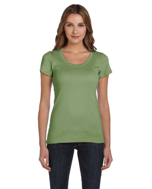 Bella 贝拉 1003 女士1x1 短袖圆领T恤