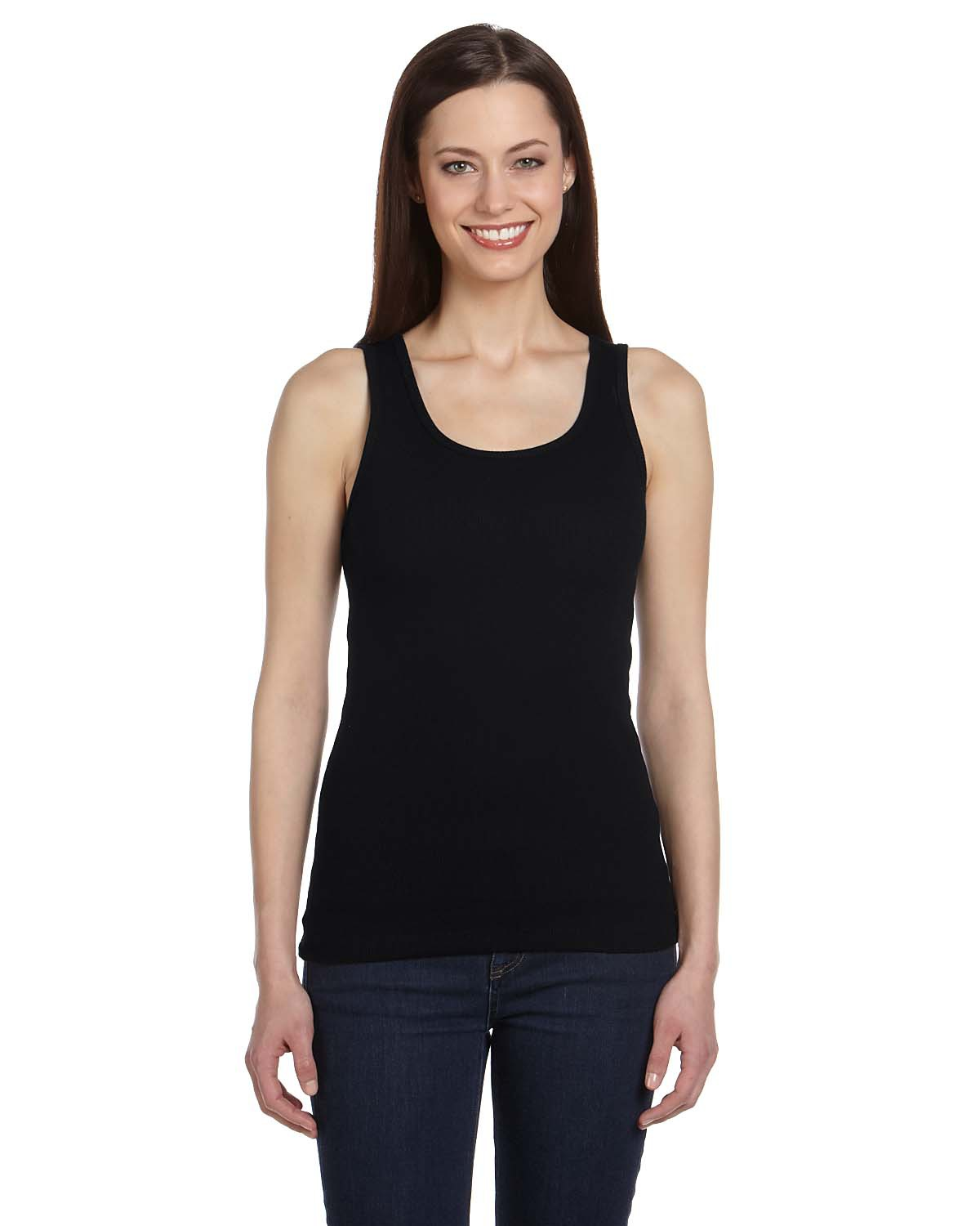 Bella 4020 Ladies' Organic 2x1 Rib Tank
