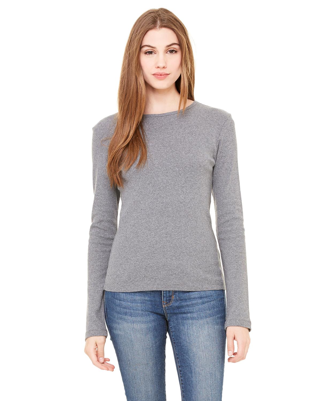 Bella 贝拉 5001 女士1x1 罗纹长袖T恤