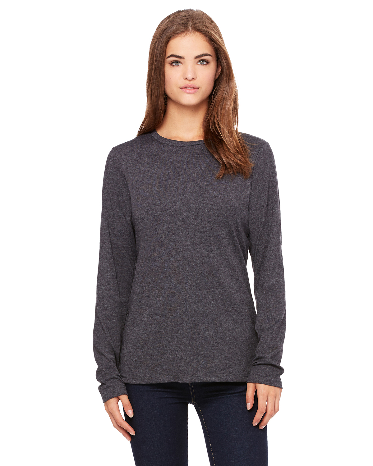 Bella 6450- Missy Long Sleeve Crew Neck T-Shirt