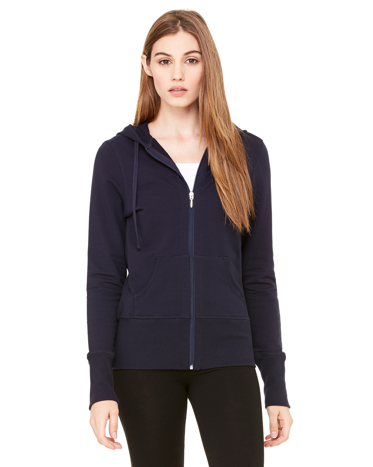 bella 7207 Ladies' French Terry Hooded Lounge Jacket