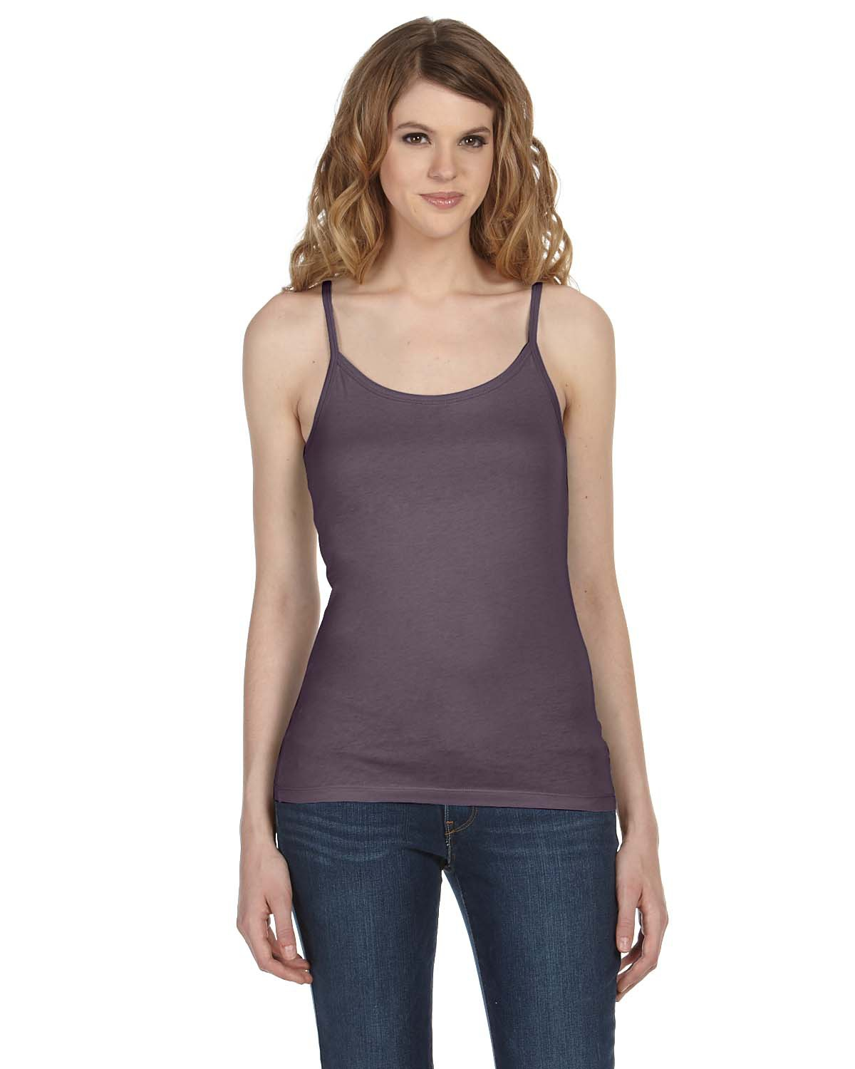 bella 8111 Ladies' Louise Sheer Jersey Longer Length Scoop Neck Tank Top