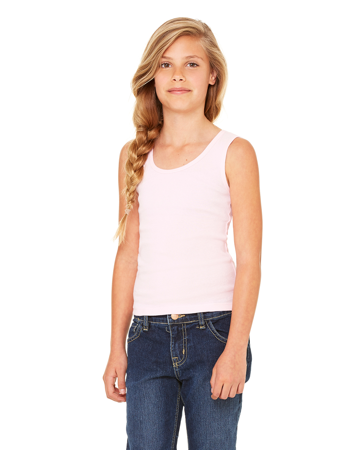 Bella girl 9080 1x1 Rib Tank Top