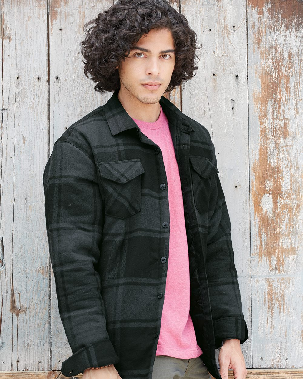 Burnside B8610 - Quilted Flannel Jacket