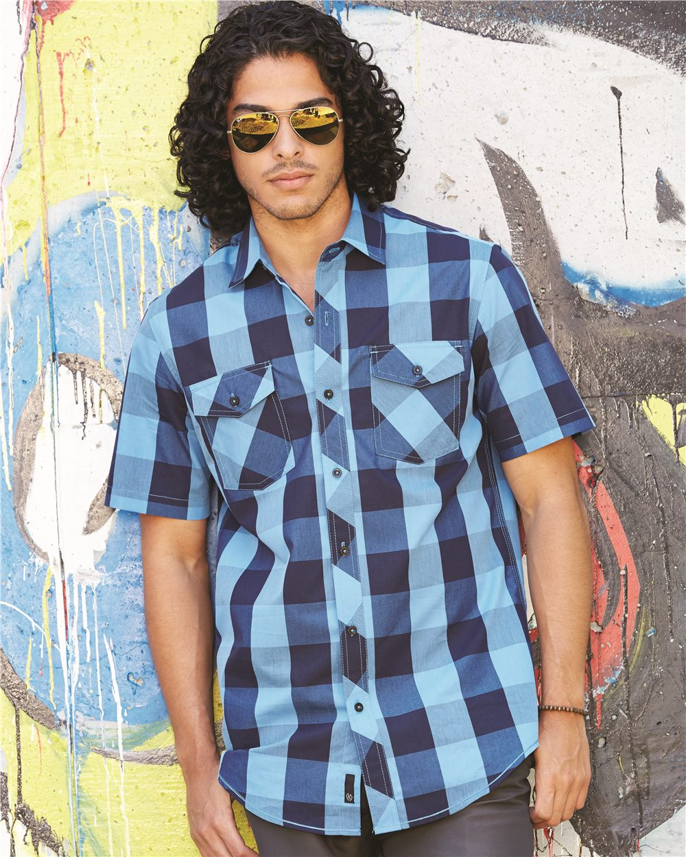 Burnside B9203 - Buffalo Plaid Short Sleeve Shirt
