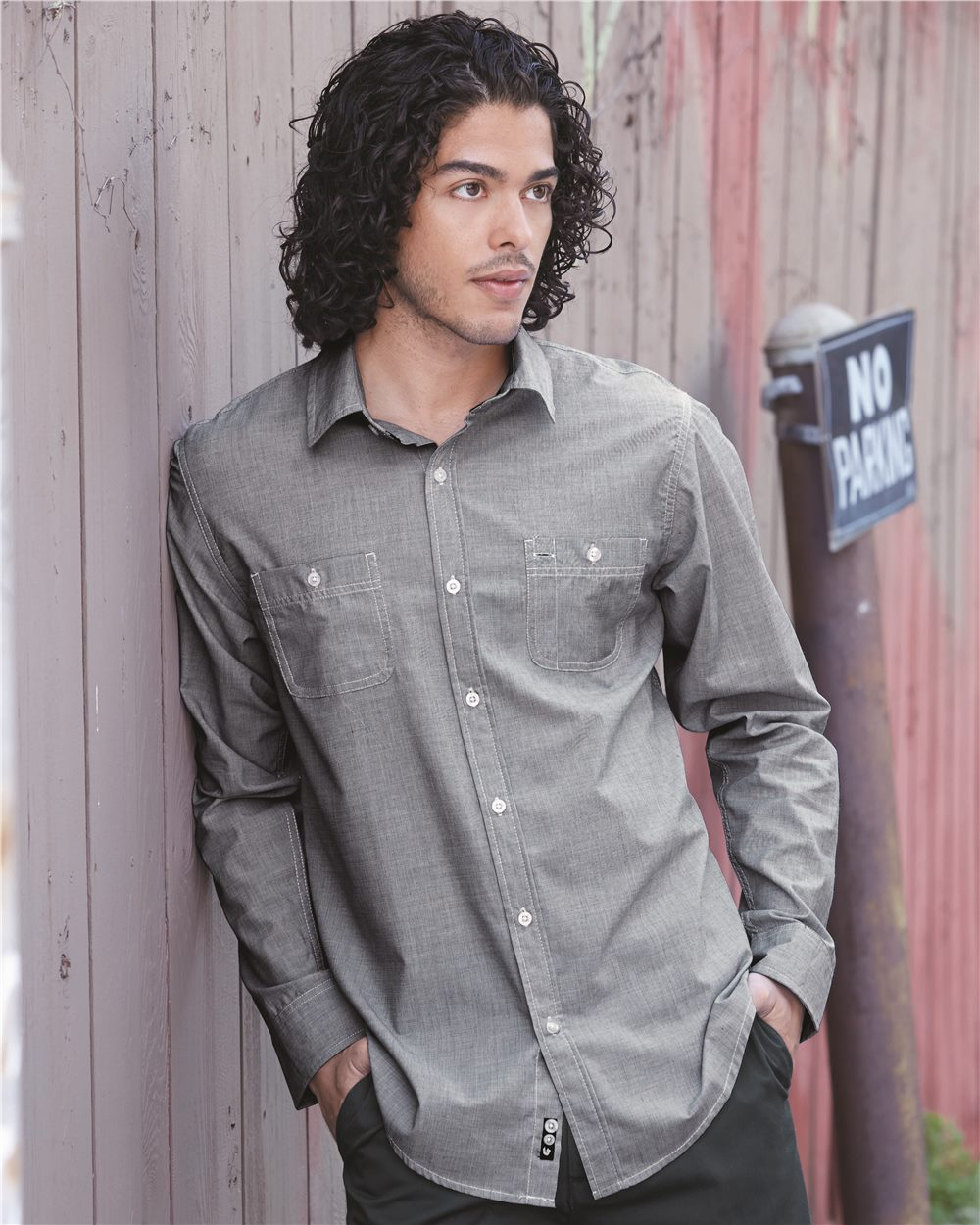 Burnside Mini-Check Long Sleeve Shirt - B8257