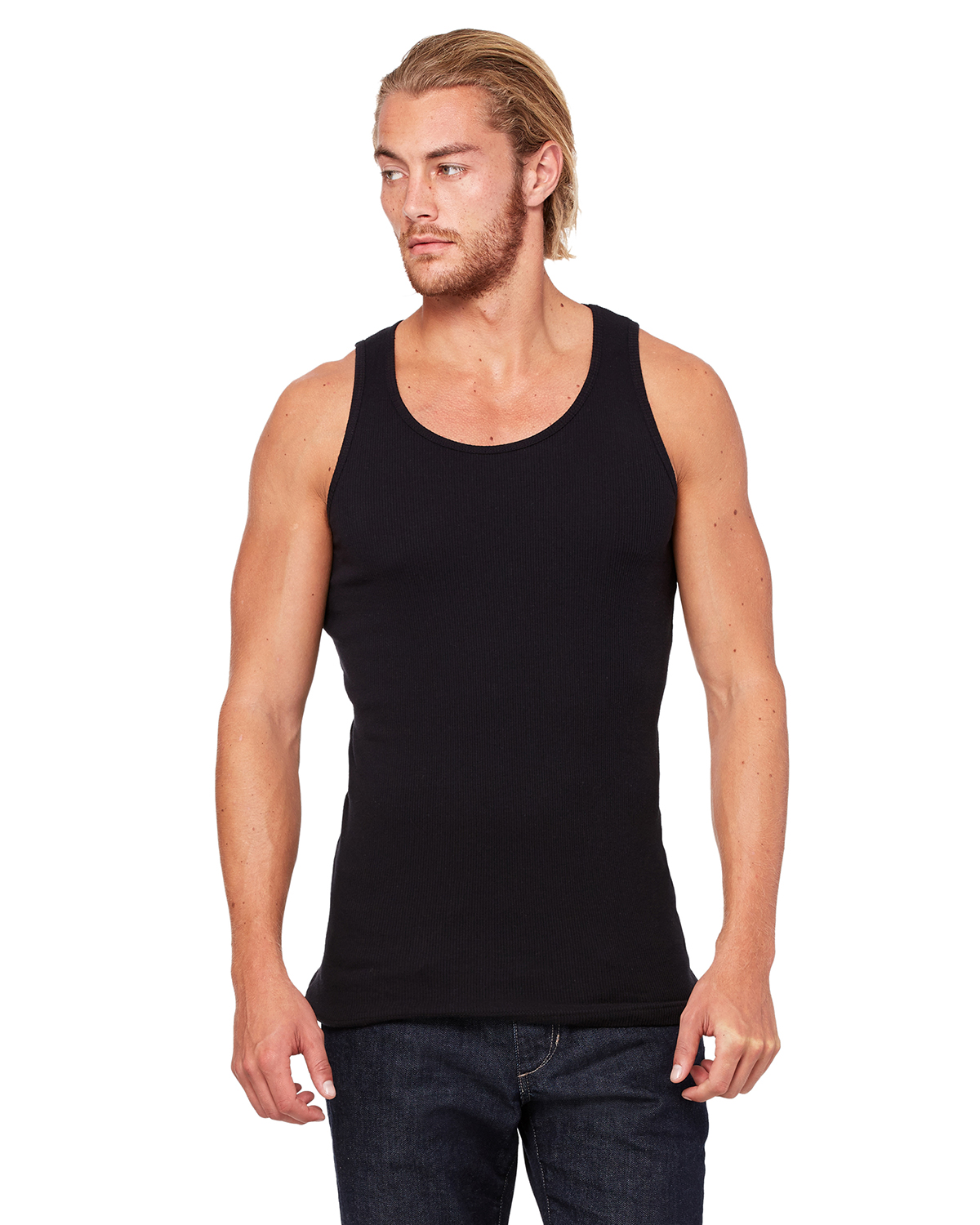 Canvas 3400 Mulholland Rib Tank Top
