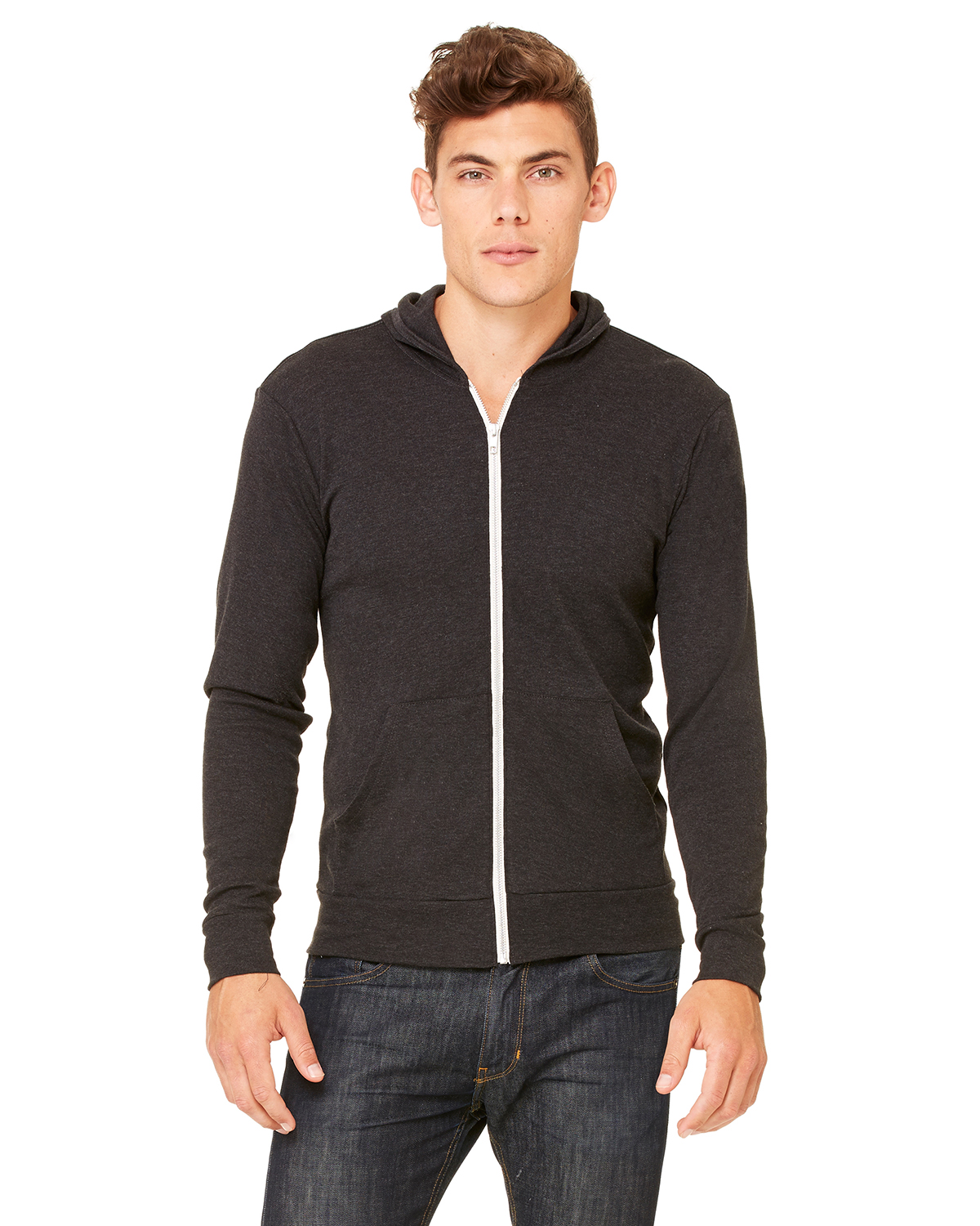 Bella + Canvas 3939 - Unisex Triblend Full-Zip Lightweight ...