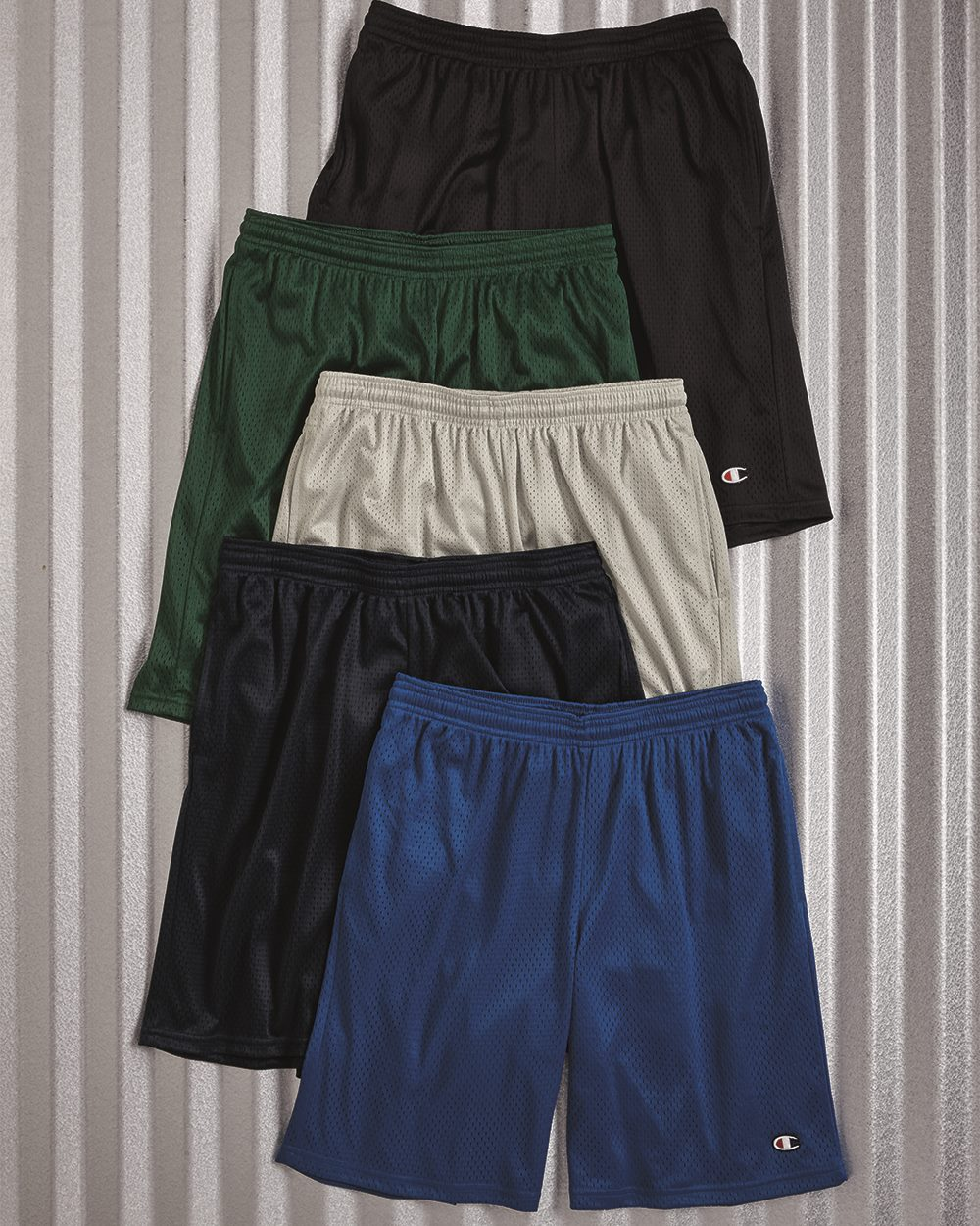 Champion S162 Long Mesh Shorts with Pockets