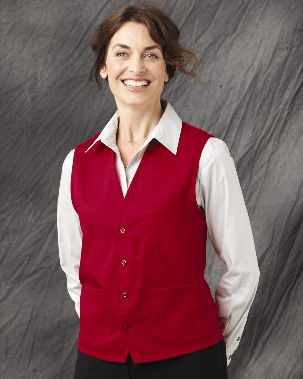 Chef Designs 1360 V-neck Button Front Vest