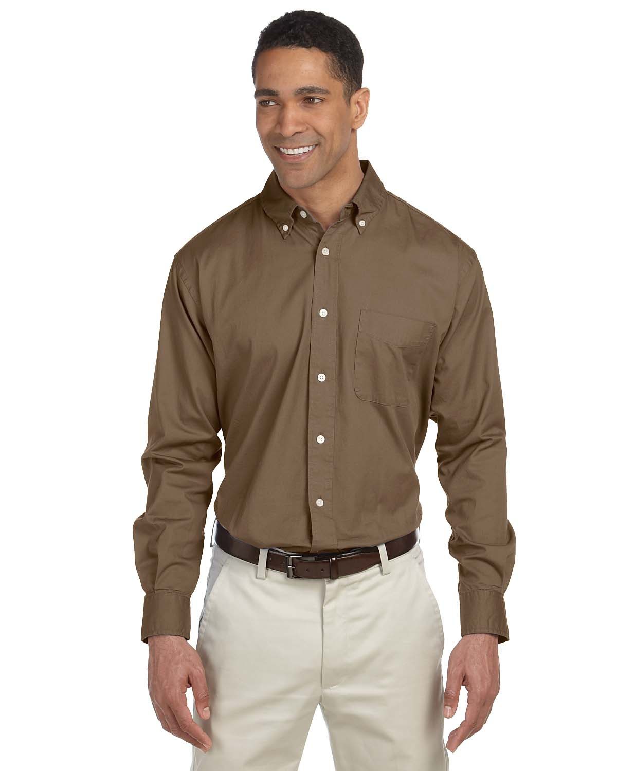 CH500 Chestnut Hill Men's 32 Singles Long-Sleeve Twill
